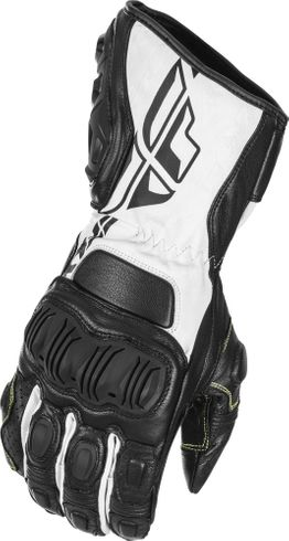 Fly Street FL-2 Black/White Motorcycle Glove