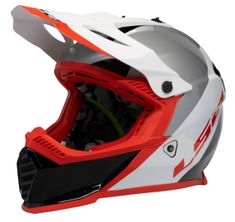 Gate Launch White/Red MX Motorcycle Helmet