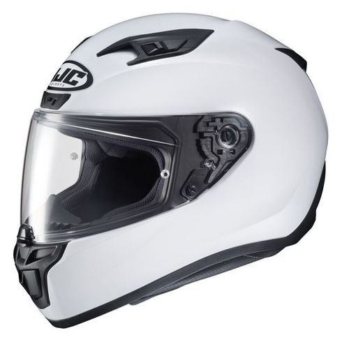 HJC I10 Solid White Motorcycle Helmet