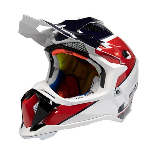 LS2 Subverter Ray Red/White MX Helmet