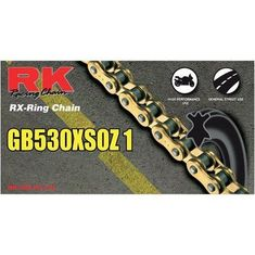 RK GB530 XSO Z1 110 Link Gold Racing Chain