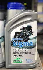 Rock Oil Guardian Sigma Semi-Synthetic 15w50 Motorcycle Oil