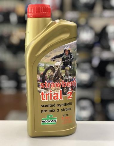 Rock Oil Strawberry Trial 2 Motorcycle Pre-Mix