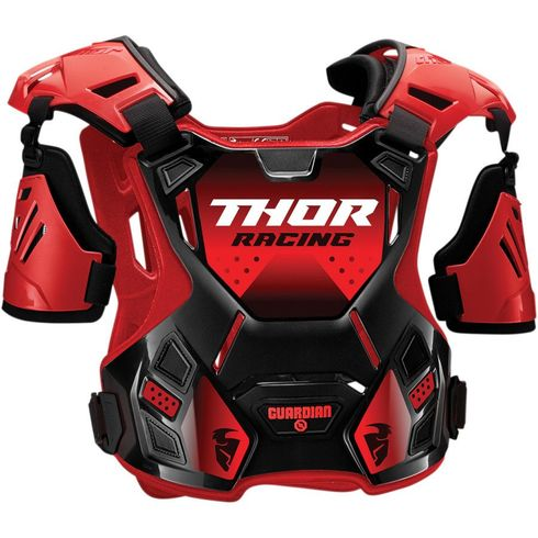 Thor Guardian Red/Black MX Chest Protector