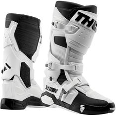 Thor Radial White MX Boot