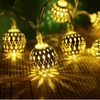 Hollow Metal Ball Party String Lights
