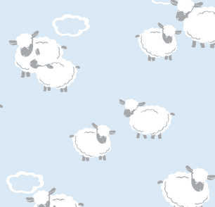 Kissy Kissy Cuddle Sheep Collection Blue