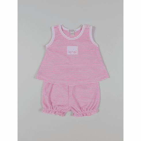 Kissy Kissy Curious Crabs Stripe TERRY Sunsuit  S18466T-42STPink