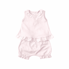 Kissy Kissy Baby-Girls Infant Cottontail Duo Print Sunsuit-White With Pink-9 Months