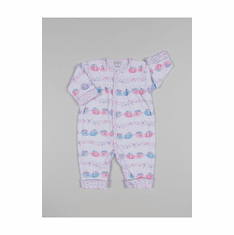 Kissy Kissy Baby Girls Eloquent Elephants Print Footie