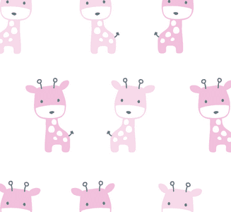 Kissy Kissy Giraffe Giggles Pink Collection