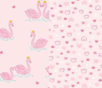 Kissy Kissy Glitter Swans Collection