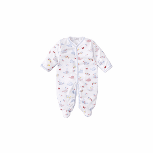 Kissy Kissy Whale of a Time Print Footie S2020WT04Pblue