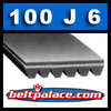 100J6 Industrial Grade Poly-V Belt. Metric 6-PJ254 Belt.