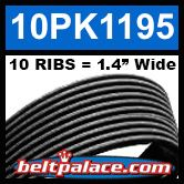 10PK1195 Automotive Serpentine (Micro-V) Belt