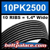 10PK2500 Automotive Serpentine (Micro-V) Belt