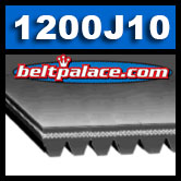 1200J10 Poly-V Belt, Metric 10-PJ3048 Motor Belt.