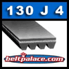 130J4 Belt, Poly-V Belt, 4-PJ330 Motor Belt.