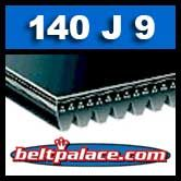140J9 Poly-V Belt, Industrial Grade Metric 9-PJ356 Motor Belt.