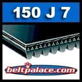 150J7 Poly-V Belt, Industrial Grade. Metric 7-PJ381 Drive Belt.