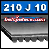 210J10 Industrial Grade Poly-V Belt. Metric PJ533 Motor Belt.