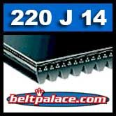 220J14 Poly-V Belt, Metric 14-PJ559 Motor Belt.