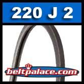 220J2 Poly-V Belt, Industrial Grade. Metric 2-PJ559 Motor Belt.