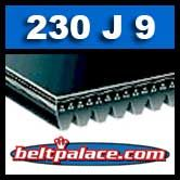 230J9 Poly-V Belt, Industrial Grade Metric 9-PJ584 Motor Belt.