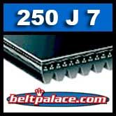 250J7 Poly-V Belt, Industrial Grade. Metric 7-PJ635 Drive Belt.