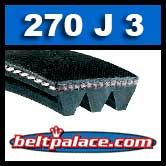 270J3 Poly-V Belt, Industrial Grade Metric 3-PJ686 Motor Belt.