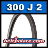 300J2 Poly-V Belt, Industrial Grade. Metric 2-PJ762 Motor Belt.