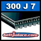 300J7 Poly-V Belt, Industrial Grade. Metric 7-PJ762 Drive Belt.