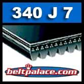 340J7 Poly-V Belt, Industrial Grade. Metric 7-PJ864 Drive Belt.