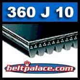 BANDO 360J10 Poly-V Belt, Metric 10-PJ914 Motor Belt.