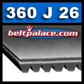 360J26 Poly-V Belt, Metric 26-PJ914 Motor Belt.