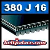 380J16 Poly V Belt, Metric Belt 16-PJ965.