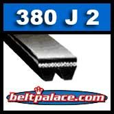 380J2 Poly-V Belt, Industrial Grade. Metric 2-PJ965 Motor Belt.