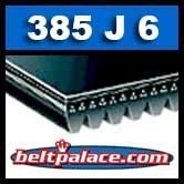 385J6 Poly-V Belt, Industrial Grade Metric 6-PJ978 Motor Belt.