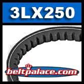 3LX250 Cogged FHP V-Belt, Industrial Grade.