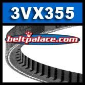 3VX355 Cogged V-Belt, Industrial Grade.