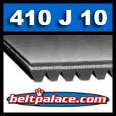 410J10 POLY-V BELT. Metric Belt 10-PJ1041.