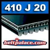 410J20 Poly-V Belt, Industrial Grade. Metric 20-PJ1041 Motor Belt.