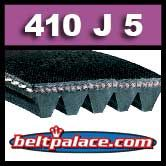 410J5 Poly-V Belt (Standard Duty), Metric 5-PJ1041 Motor Belt.
