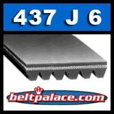 437J6 Poly-V Belt, Fitness Grade Metric 6-PJ1110 Motor Belt.