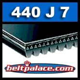 440J7 Poly-V Belt. Metric 7-PJ1118 Drive Belt.