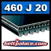 460J20 Poly-V Belt, Industrial Grade. Metric 20-PJ1168 Motor Belt.