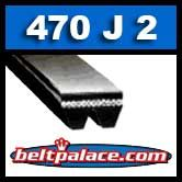 470J2 Poly-V Belt, Industrial Grade. Metric 2-PJ1194 Motor Belt.