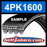 4PK1600 Automotive Serpentine (Micro-V) Belt