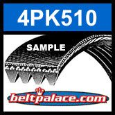 4PK510 Automotive Serpentine (Micro-V) Belt