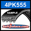 4PK555 Automotive Serpentine (Micro-V) Belt